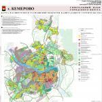 Карта размещения объектов капитального строительства, генеральный план города Кемерово